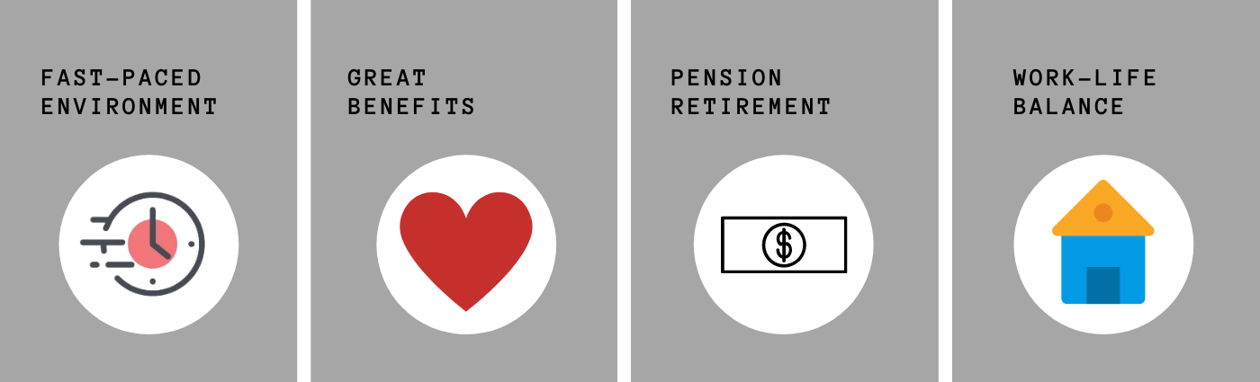 CALPIA Benefit banner: Fast-Paced Environment, Great Benefits, Pension Retirement, and Work-Life Balance.