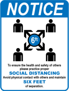 Picture of Social distancing signs